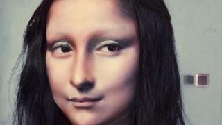 Ето я живата Мона Лиза (видео)