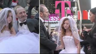 Той е на 65, тя на 12. Вижте реакцията на женитбата им! (Видео)