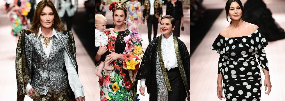 Все още го могат: Старите величия дефилираха за Dolce & Gabbana