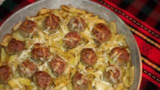 Кюфтенца с картофи на фурна