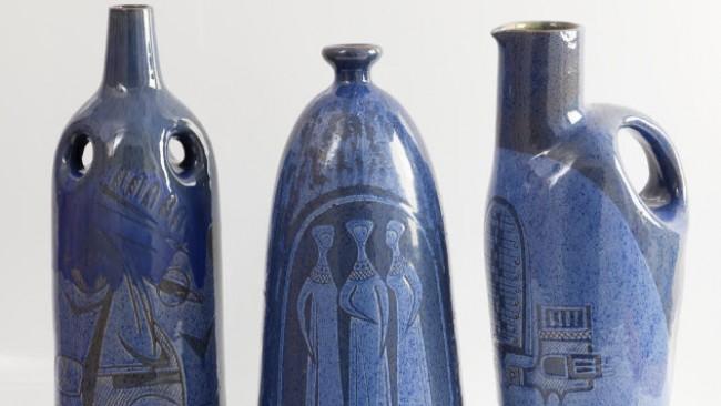 Показват уникалните вази на декораторката на ЦУМ