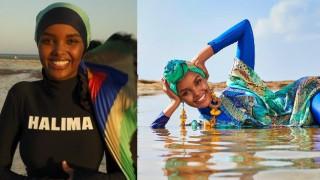 Мюсюлманка позира с буркини (Снимки)
