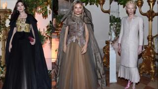 Моника Белучи, Сиена Милър и Тилда Суинтън на бала на Dior във Венеция