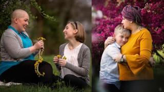 Тя пребори рака, започна да снима майки, които водят битка с болестта (Снимки)