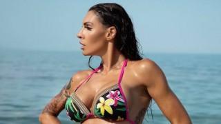 Злати Димитрова показа мускули на плажа
