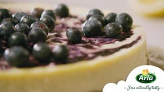 Arla чийзкейк с бял шоколад и боровинки