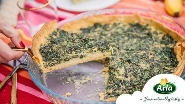 Зелен тарт със сирена