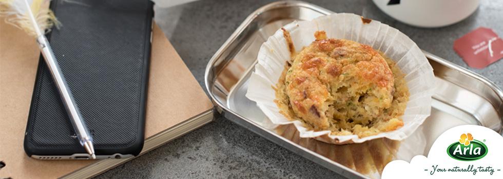 Перфектното решение за закуска - мъфини с бекон и Arla Хаварти