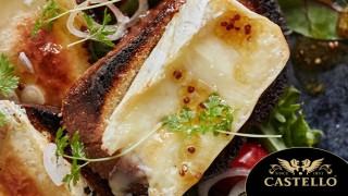 Наслада за душата: свежа салата с кростини с разтопен Камембер Castello