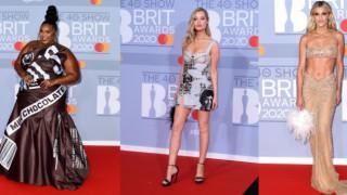 Звездите на наградите Brit: голи, смели и облечени в шоколад