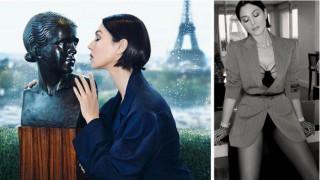 Пролет в Париж: Моника Белучи по-красива от всякога пред Айфеловата кула