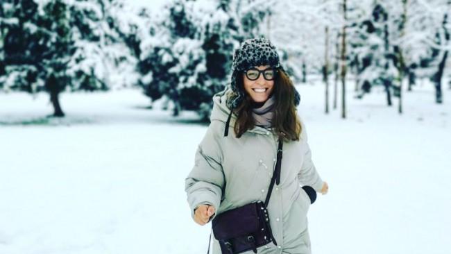 Радина Кърджилова в снежни игри с фамилията (снимка)