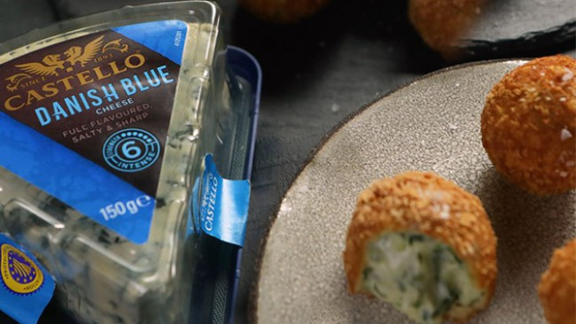 Крокети със синьо сирене и горчица