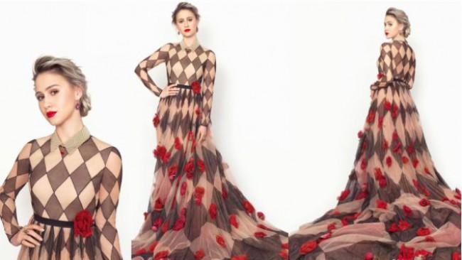 Мария Бакалова в зашеметяваща haute couture рокля на Dior