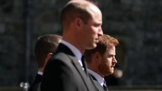 Напук на спекулациите Уилям и Хари съпроводиха дядо си по последния му земен път рамо до рамо