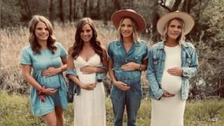 Невероятно! Те са сестри и четирите са бременни