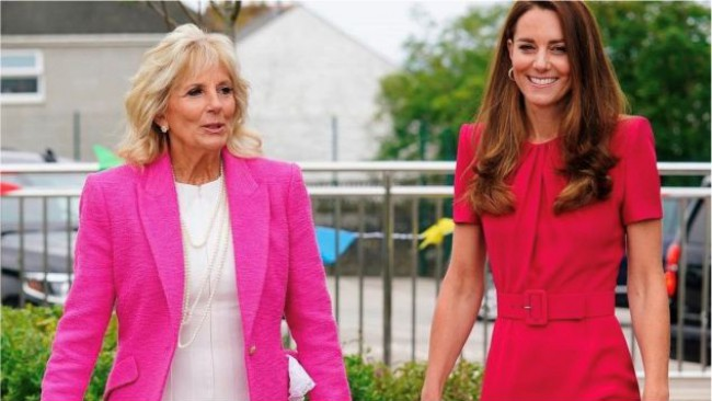 Кейт Мидълтън и Джил Байдън заложиха на семпли и елегантни тоалети за своята първа среща