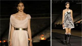 Белослава Хинова дефилира за Dior в Атина