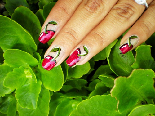 summer manicure summer decoration of nails nails decorated with fruits nail art manicure with fruit Fruit nails decorative manicure colored nail polish