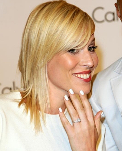 celebritynails Manicure in white ... White traces remain ...