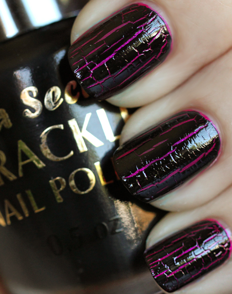 crackle nail polish mia secret black Super Nails: Husked varnish is fashionable