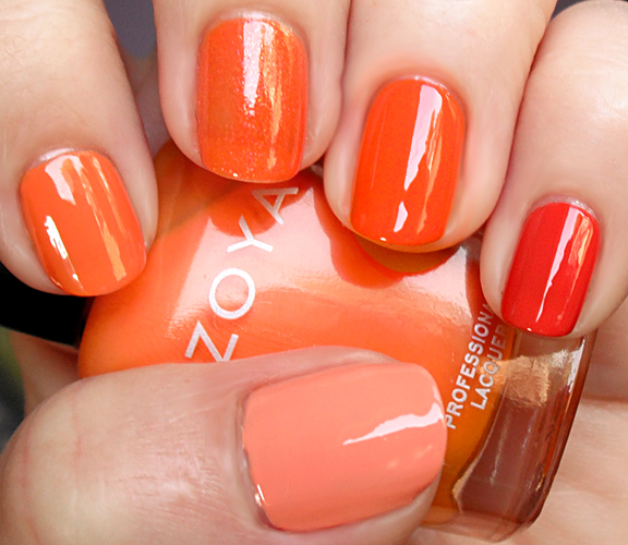 gradation nail orange shades of lacquers pink polish nail art manicure in different colors Gradient Nails art gradient nail polish gradient manicure gradation of colors chocolate manicure