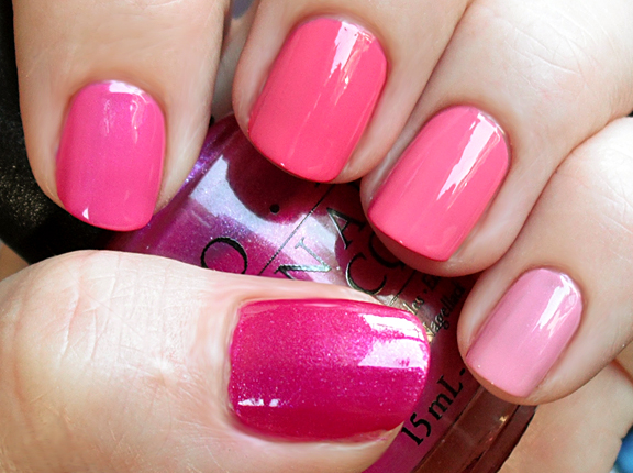 gradation nail pink shades of lacquers pink polish nail art manicure in different colors Gradient Nails art gradient nail polish gradient manicure gradation of colors chocolate manicure