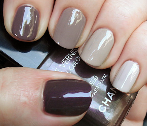 gradation nail taupe shades of lacquers pink polish nail art manicure in different colors Gradient Nails art gradient nail polish gradient manicure gradation of colors chocolate manicure
