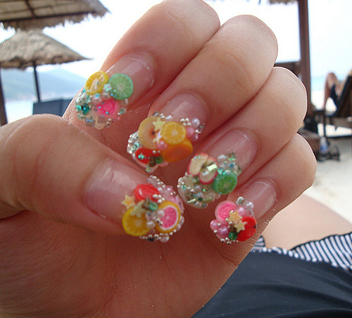 kjl; Fruity manicure... Sweet, a?