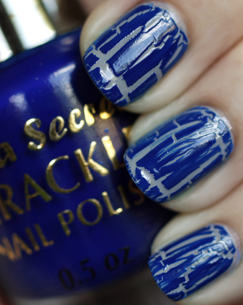 mia secret crackle nail polish blue swatch Super Nails: Husked varnish is fashionable