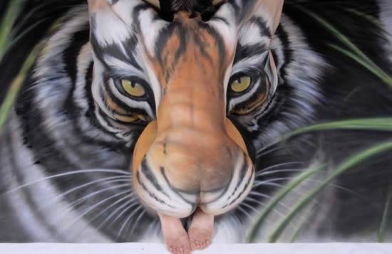 бодиарт тигър