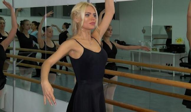 На урок по балет с модела Вероника Стефанова