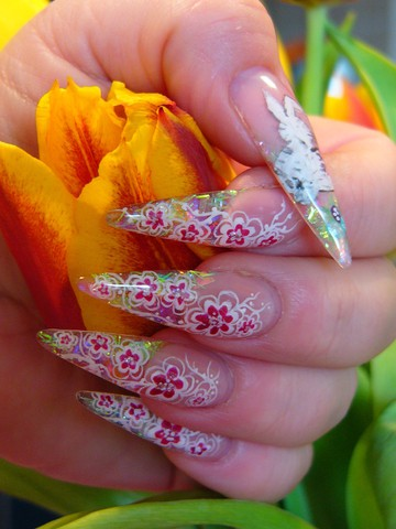 000007769P1070664.JPG sharp nails pointed nails new trend in manicure nail art long manicure leopard nails decorated nails