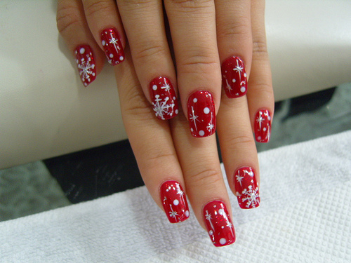 Christmas Nail Art winter trend Winter nails winter manicure trends in manicure New Yearss manicure nail art design of nails decorated nails Christmas manicure