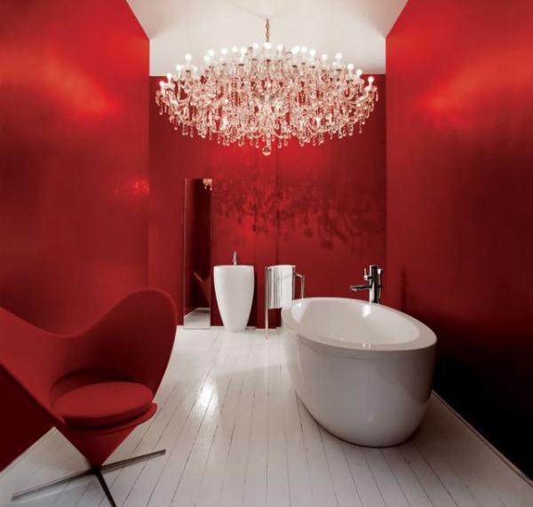 Всичко за банята-съвети и идеи! Laufen-red-bathroom-588x560