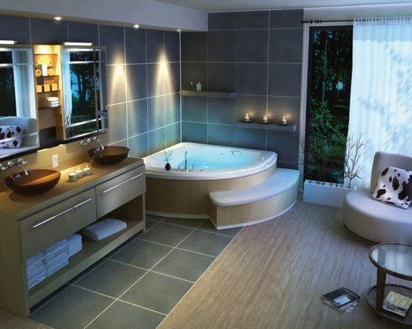 Всичко за банята-съвети и идеи! Traditional-beautiful-bathroom-design-corner-bath-tub