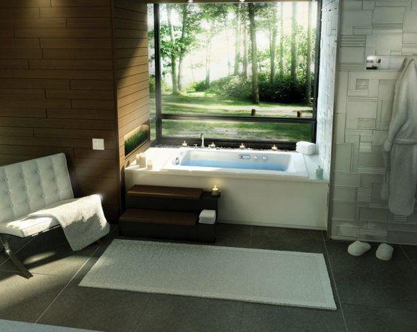 Всичко за банята-съвети и идеи! Traditional-beautiful-bathroom-design-ideas-besides-window